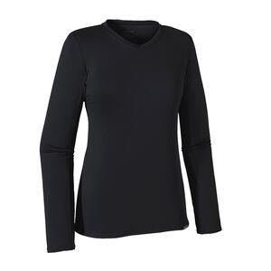 ウィメンズ・ロングスリーブ・キャプリーン・デイリー・Tシャツ, Black (BLK)