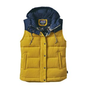 W's Bivy Down Hooded Vest, Sulphur Yellow (SULY)
