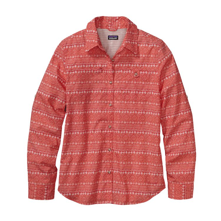 W'S L/S ISLAND HOPPER II SHIRT, Sea Gypsy: Ginger Berry (SEGB)
