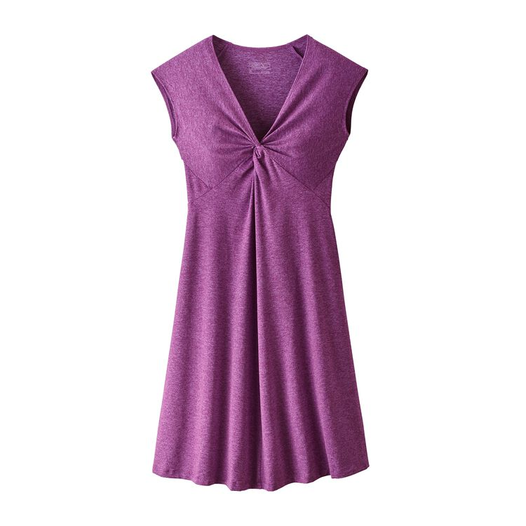 W'S SEABROOK BANDHA DRESS, Ikat Purple (IKP)