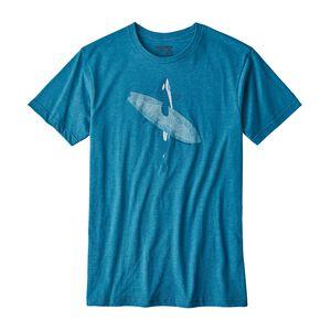 メンズ・ポッズ・オン・イット・コットン/ポリ・Tシャツ, Filter Blue (FLTB)
