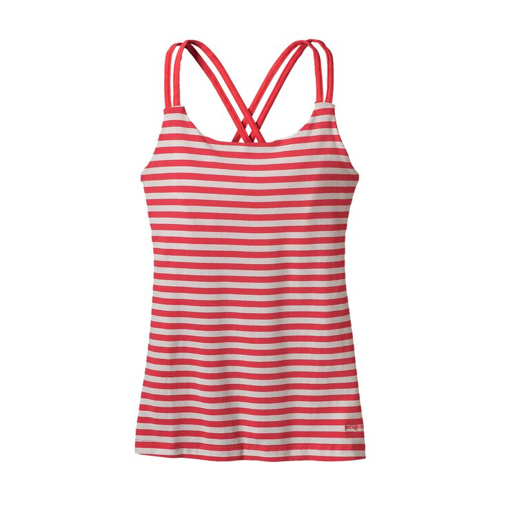 W'S CROSS BACK TANK, Vista Stripe: Shock Pink (VSHP)