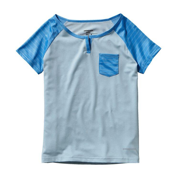 GIRLS' CAP 1 SW T-SHIRT, Dusk Blue (DKB)
