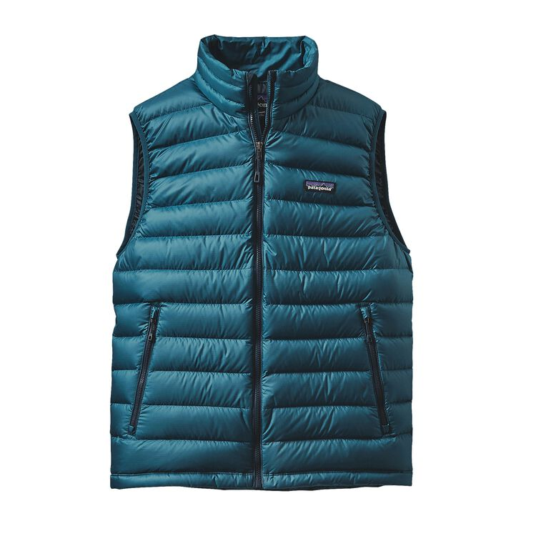 M'S DOWN SWEATER VEST, Deep Sea Blue (DSE)