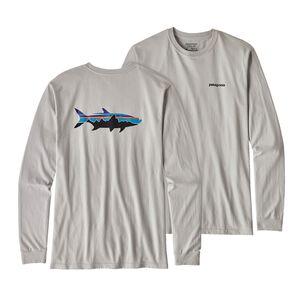 メンズ・ロングスリーブ・フィッツロイ・ターポン・コットン・Tシャツ, Tailored Grey (TGY)