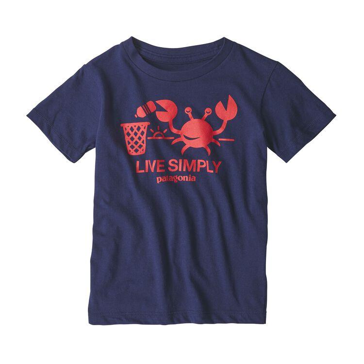 BABY LIVE SIMPLY ORGANIC T-SHIRT, Classic Navy (CNY)