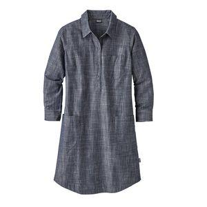 ウィメンズ・ロッキー・ピーク・シャツ・ドレス, Chambray: Navy Blue (CBYN)