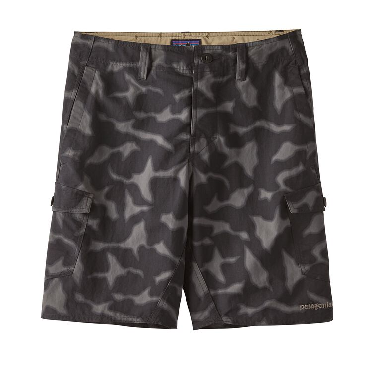 M'S WAVEFARER CARGO SHORTS - 20 IN., Aerial Camo: Black (AECB)