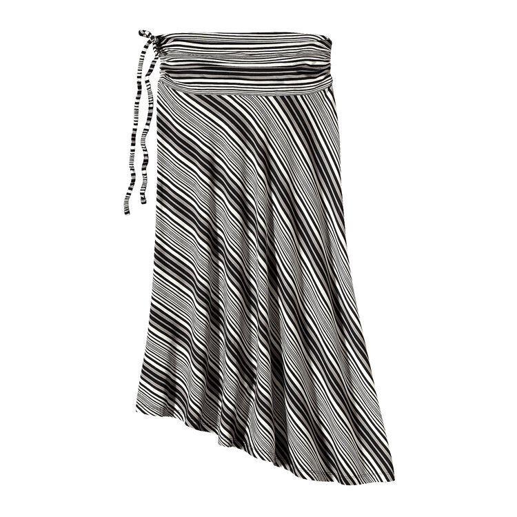 ウィメンズ・カマラ・スカート, Sideswept Stripe: Black (SWBK)