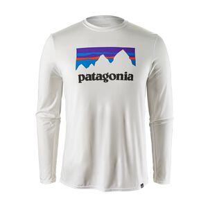 メンズ・キャプリーン・デイリー・ロングスリーブ・グラフィック・Tシャツ, Shop Sticker: White (STWI)