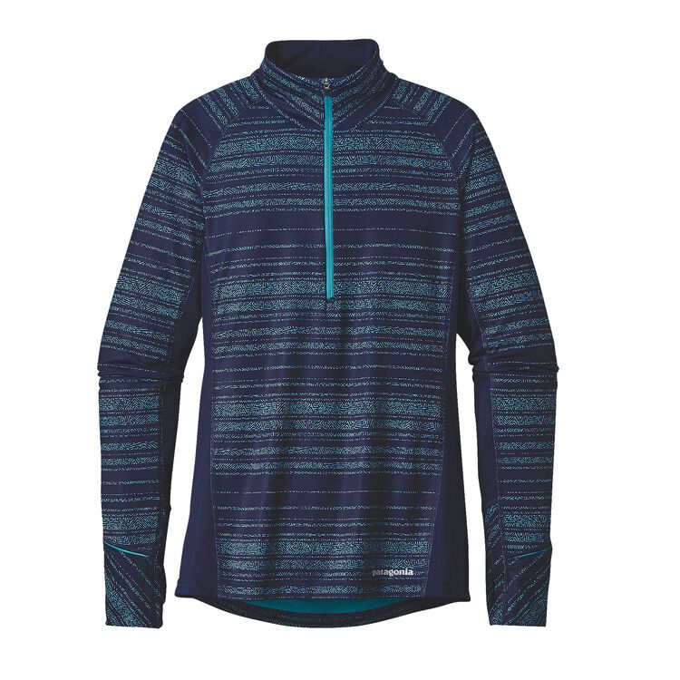 W'S ALL WEATHER ZIP NECK, Liquid Light: Epic Blue (LLEB)