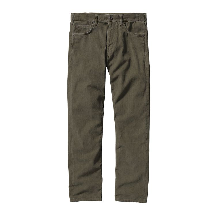 M'S STRAIGHT FIT CORDS - SHORT, Industrial Green (INDG)