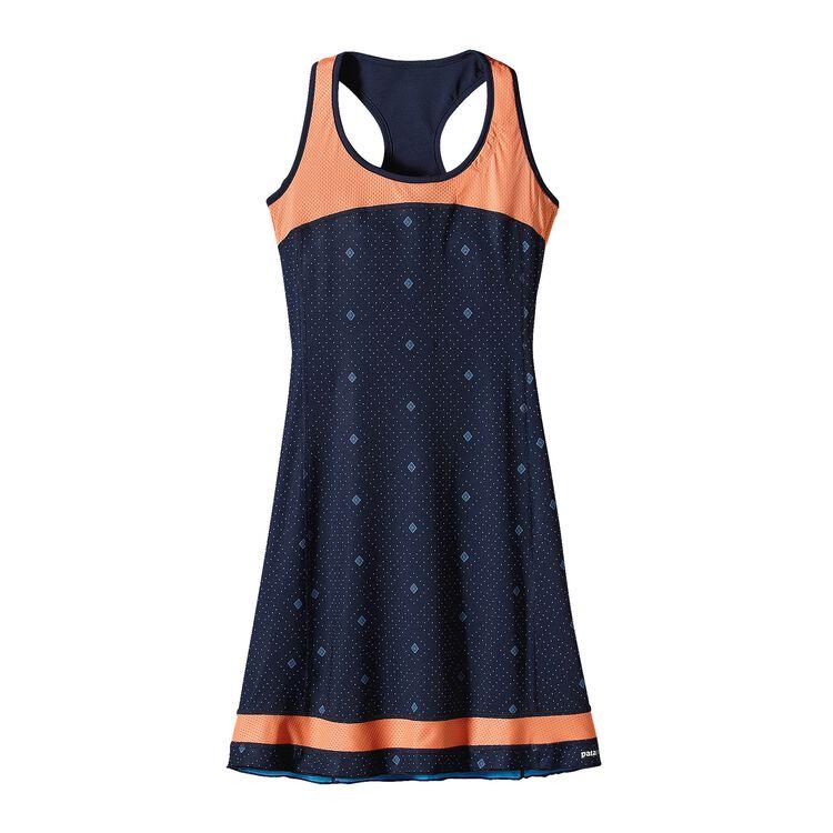ウィメンズ・オールウェザー・ドレス, Western Dots: Navy Blue (WSNB)