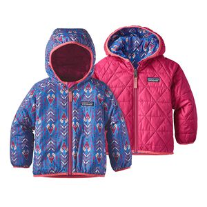 Baby Reversible Puff-Ball Jacket, Tipikat: Oasis Blue (TOSB)