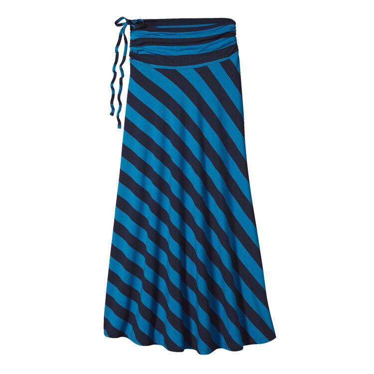 W'S KAMALA MAXI SKIRT, Jack Rabbit Stripe: Navy Blue (JRBN)