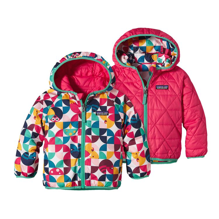 BABY REVERSIBLE PUFF-BALL JKT, Playtime Pals: Rossi Pink (PRYP)