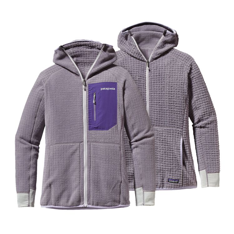 W'S R3 HOODY, Rustic Purple (RSTP)