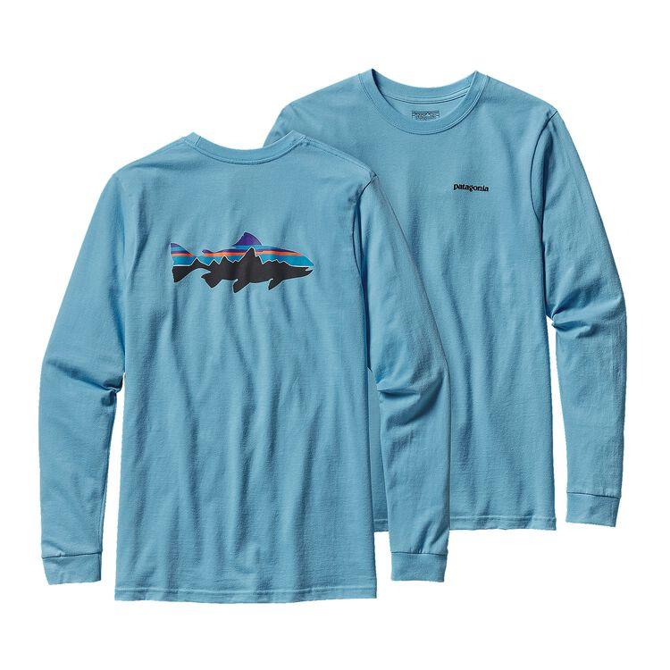 M'S L/S FITZ ROY TROUT COTTON T-SHIRT, Lite Electron Blue (LECB)