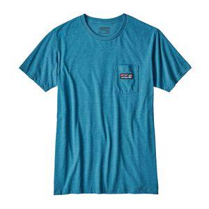 メンズ・ボード・ショーツ・ラベル・コットン/ポリ・ポケット・Tシャツ, Filter Blue (FLTB)