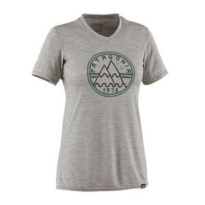 ウィメンズ・キャプリーン・デイリー・グラフィック・Tシャツ, Mt. Minded Peaks: Drifter Grey Heather (MTPD)
