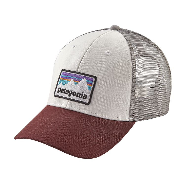 SHOP STICKER PATCH LOPRO TRUCKER HAT, White (WHI)