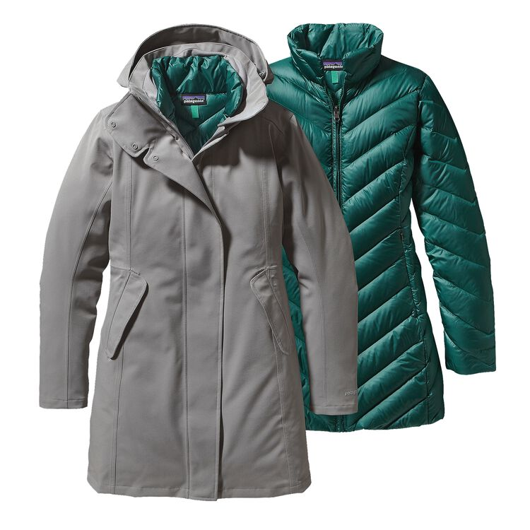 W'S TRES 3-IN-1 PARKA, Feather Grey (FEA)