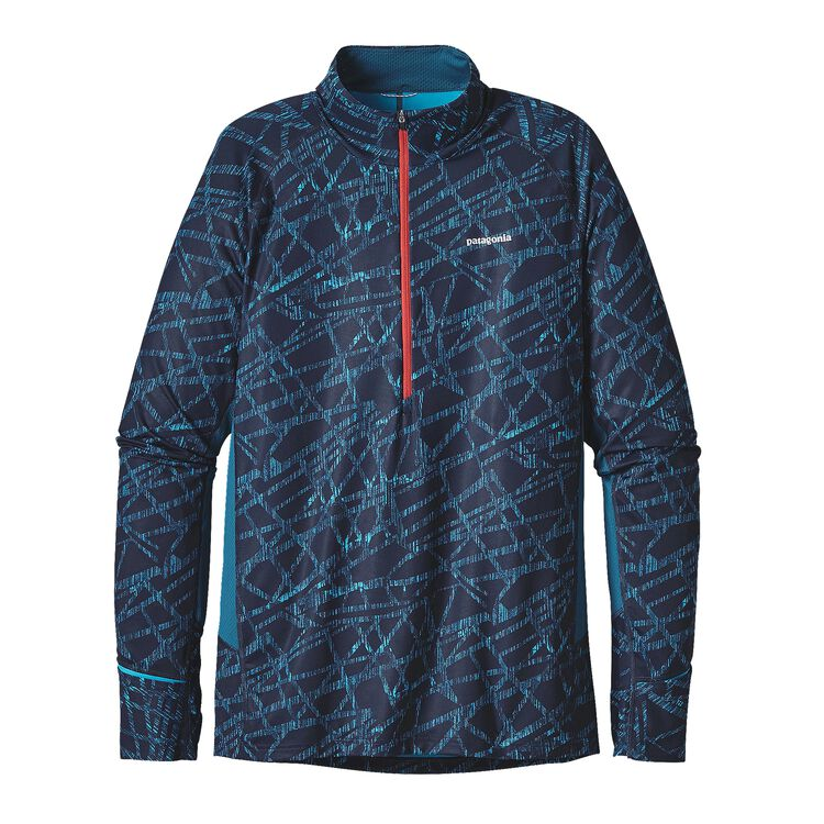 M'S ALL WEATHER ZIP NECK, Balsa Blast: Grecian Blue (BBGB)