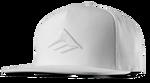 TRIANGLE SNAPBACK CAP - WHITE - hi-res