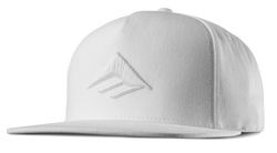 Triangle Snapback Cap - WHITE - hi-res