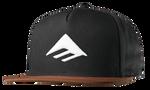 TRIANGLE SNAPBACK CAP - BLACK/BROWN - hi-res
