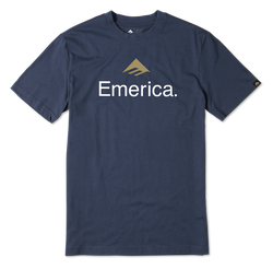 EMERICA SKATEBOARD LOGO - NAVY - hi-res