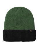 TRIANGLE CUFF BEANIE - GREEN/BLACK - hi-res