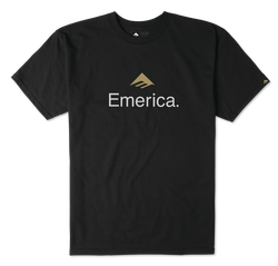 EMERICA SKATEBOARD LOGO - BLACK/GOLD - hi-res