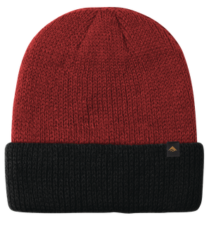 TRIANGLE CUFF BEANIE - RED/BLACK - hi-res