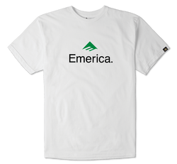EMERICA SKATEBOARD LOGO - WHITE/GREEN - hi-res