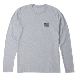 PURE FLAG LS - GREY/HEATHER - hi-res