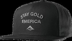 Gold Stand Snapback Cap - BLACK - hi-res