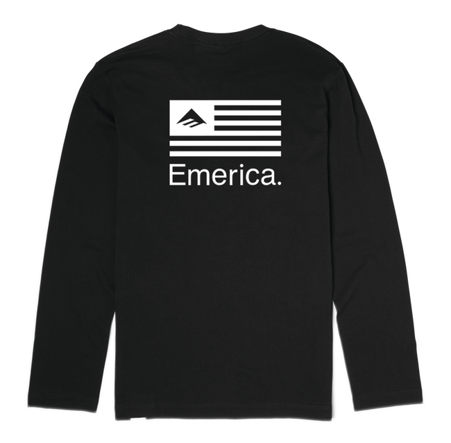 PURE FLAG LS - BLACK - hi-res
