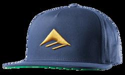 Triangle Snapback Cap - NAVY - hi-res