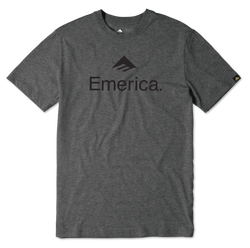 EMERICA SKATEBOARD LOGO - CHARCOAL/HEATHER - hi-res