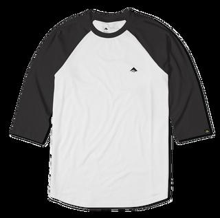 TRIANGLE RAGLAN - BLACK/WHITE - hi-res