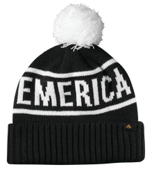 Steady Pom Beanie - BLACK - hi-res