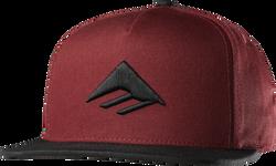 Triangle Snapback Cap - RED/BLACK - hi-res