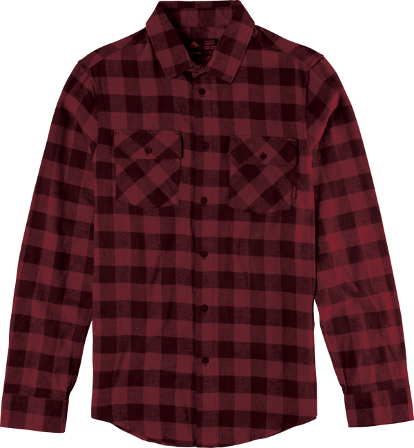 Gutter LS Flannel - RED - hi-res