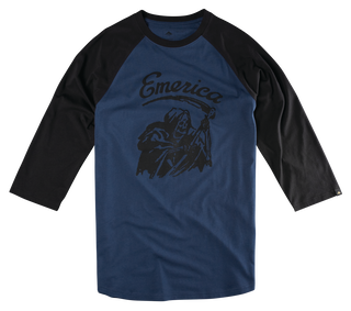 CREEPER REAPER RAGLAN - BLACK/NAVY - hi-res