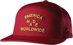 WORLD WIDE SNAPBACK CAP - RED - hi-res