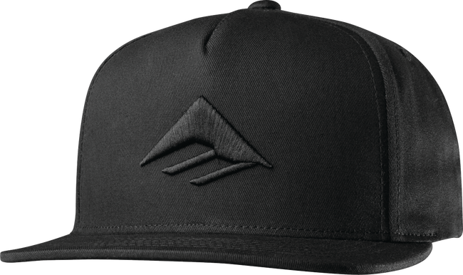 Triangle Snapback Cap - BLACK - hi-res
