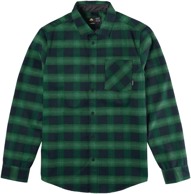 STRUMMER LS FLANNEL - GREEN - hi-res