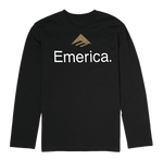 Emerica Skateboard Logo LS - BLACK - hi-res