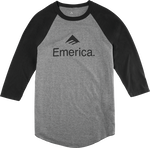 EMERICA SKATEBOARD RAGLAN - BLACK/CHARCOAL - hi-res